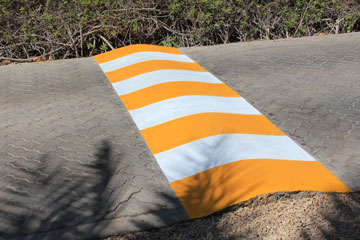 Speed Bump In Visible Orange Color